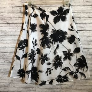 George skirt with black flowers